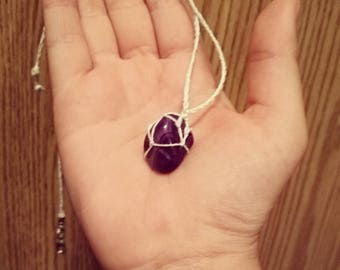 Amethyst Hemp Necklace