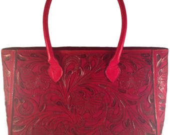 Butterfly Tote Bag, 100% Leather, Multiple Colors, FREE SHIPPING!