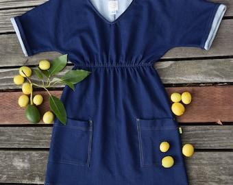Denim Knit Tunic Dress