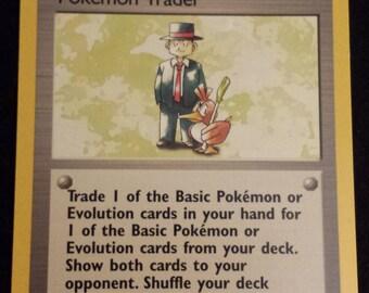 Vintage Rare Pokemon Trainer - Pokemon Trader Original Series Pokemon Card 77/102 - VG