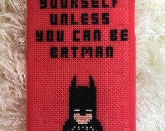 Case Iphone 6 Plus/ 6S Plus, Batman, Cross stitch case, Batman case, Cross Stitch Batman, Silicon case