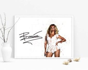 beyonce poster, beyonce quote, beyonce print, beyonce art, beyonce formation, inspirational quote, wall art, printable art, watercolor art