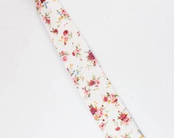 Boys Floral Clip On Tie 2.36"