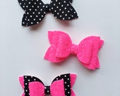 Glitter Bows and Polka Dots Bows - Photo Props