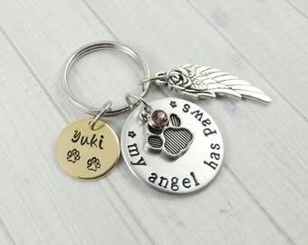 Dog Memorial Keychain ~ Dog Loss~ Pet Loss~ Dog Remembrance~ Dog Lover Keychain~ Custom Dog~ Loss Of A Pet