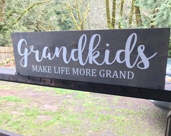 Grandkids make life more grand photo display