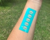 Lip Shape Makeup Swatch Stencil Stickers Perfect for Lipsense