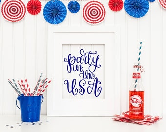 Party in the USA - Hand Lettered SVG