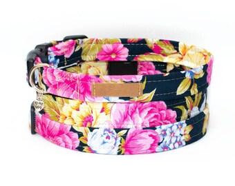 Blossom Roses Dog Collar Floral Girl Dog Collar Herbal Pink Dog Collar Unique Vintage Dog Collar Adorable Flower Dog Collar Wedding