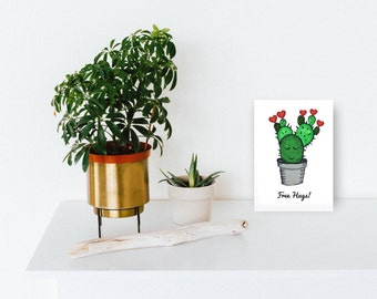Printable valentine cards, printable cactus, printable cards valentine, digital cactus, digital valentines cards, digital cactus prints, pdf