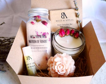 Will you be my matron of honor proposal gifts Matron of Honor Gift Box Matron of honor personalized gift spa gifts for matron of honor will