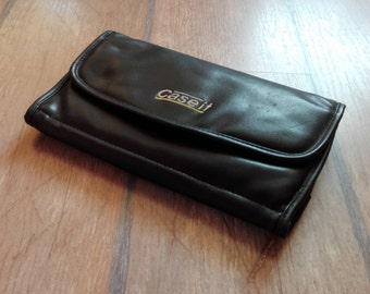 VTG Large Black Leather Multi Functional CD DVD Case