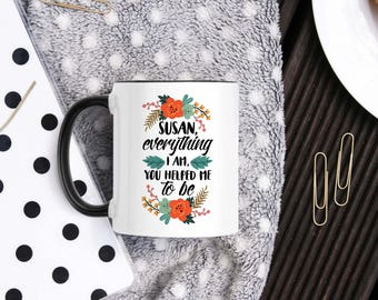 Personalized Thank You Mug - Thank You Gift - To Parents - Thanksgiving Aunt Gift - Mug For Friend - For Boss - For Mentor - Gratitude Gift