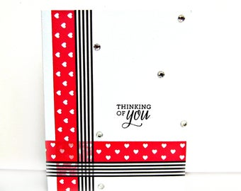 thinking of you card, thinking of you cards, just because card, just because cards, friendship card, sympathy card, handmade greeting card