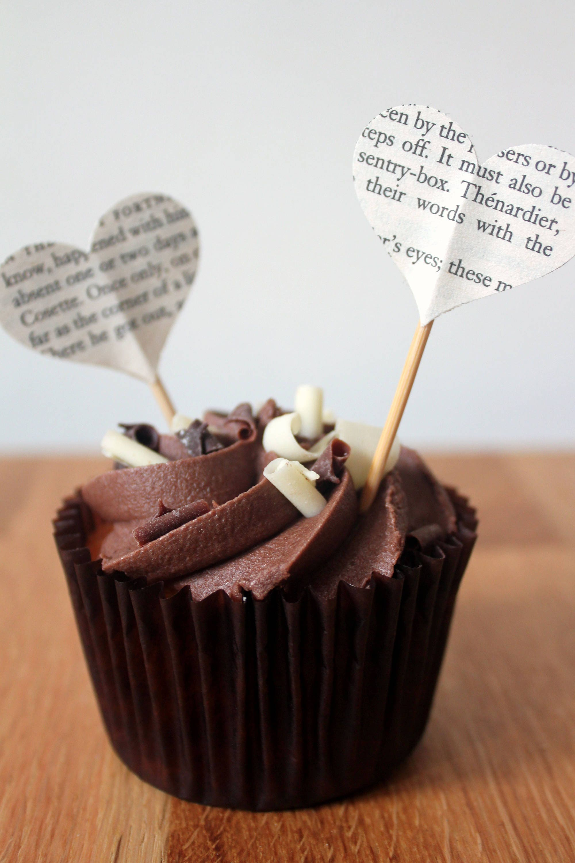 Literary Cupcake Toppers, Handmade using Classic Books, Rustic ...