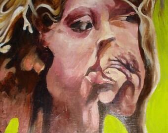 Portrait 1: Warped Reflection - ORIGINAL Oil Painting