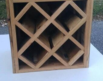 reclaimed pallet wood wine rack tabletop wine rack wine cube wine rack