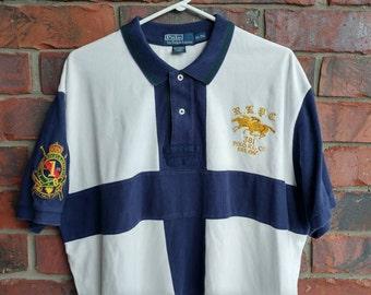 90s Ralph Lauren Polo RL Shirt Vintage Ralph Lauren RLPC Polo Shirt