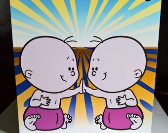 Baby Twins Special Occasion Greeting Card