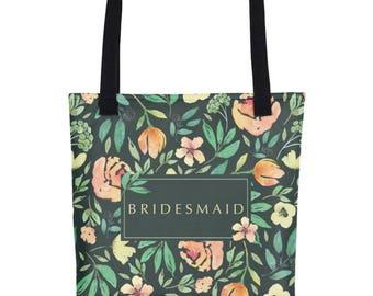 Floral Bridesmaid Tote | Floral Bridesmaid Tote Bags | Floral Wedding Tote | Floral Wedding Tote Bag Floral Wedding Bag Totes For The Bride