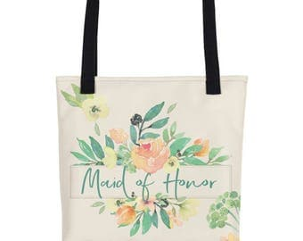Maid Of Honor Bag | Maid Of Honor Tote | Maid Of Honor Tote Bag | Maid of Honor Proposal | Bridesmaid Proposal | Custom Bridal Tote Bag