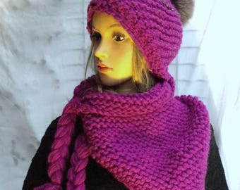 Fur-bobble in Zyclam-colours