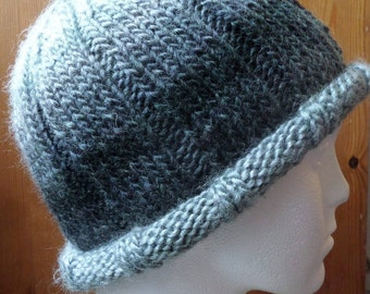 Hand knitted Ribbed Beanie Hats