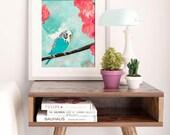 SUMMER SKY | Bird Art | Tropical Print | Tropical Decor | Tropical Wall Art | Bird Painting | Wall Art | Art Print | Coastal Wall Art