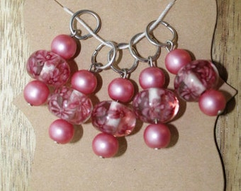 Pink Japanese Lantern Stitch Markers