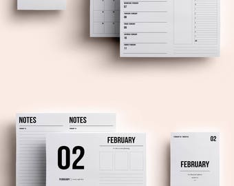 A6 TN Insert | A6 TN Printable | A6 TN Printable Insert | A6 Insert February 2018