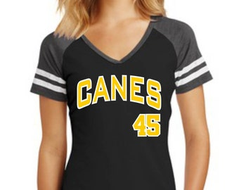 CANES Game Day Shirt - V-Neck, Scoop Neck or Tank Top