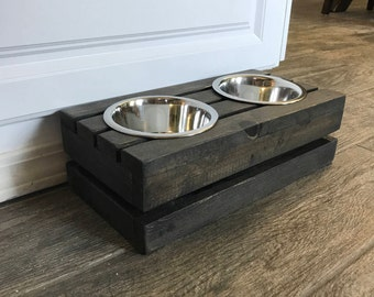 Small Raised Dog Bowl Stand Mini Rustic Raised Crate Dog Bowls Extra Small Elevated Dog Bowl Dog Dish Dog Feeder Dog Bowl Elevated Dog Bowls