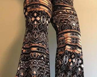Boho Clothing, Festival Clothing, Palazzo Pants, Bell Bottoms, Hippie Pants, Hipster Clothing, Upcycled Clothing, Handmade Pants, Yoga Pants