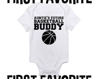 Basketball baby etsy aunt basketball baby onesie bodysuit shirt pregnancy announcement shower gift auntie sister infant newborn 24m negle Choice Image