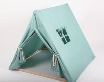 Turquoise Indoor Playtent - Eco-friendy Tent - Play tent