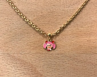 15k gold Chibiusagi from Sailor Moon charm necklace