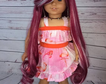 "Custom 10-11"" Doll Wig Fits Most 18"" Dolls ""Twizzled""- Heat Safe"