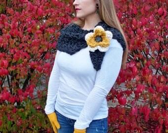 Neck Warmer Crochet Pattern Split Cowl Crochet Pattern Infinity Scarf Crochet Pattern Neckwarmer Crochet Pattern Easy Crochet Pattern