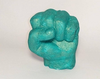 Hulk inspired hand bath bomb