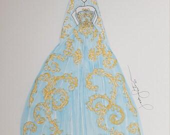 Reem Acra Spring 2018 Bridal Gown - Print