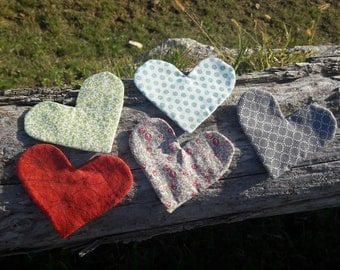 Bookmark • heart shaped patterns to choose from several