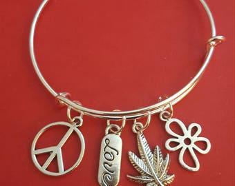 Hippy Themed Charm Bracelet