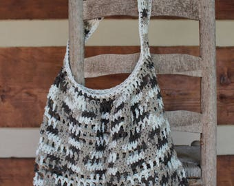 Large crochet market bag, tote bag, beach bag