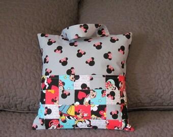 Minnie Mouse Travel Pillow/Disney Travel Pillow/Kids Reading Pillow/Pocket Pillow