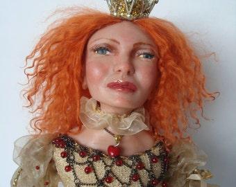 """Queen Lizzy """" Ooak art doll"""