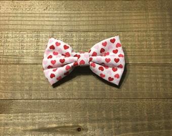Sparkly hearts - Fabric Hair bow