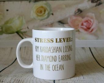 Stress Level: Kim Kardashian Mug
