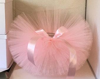 light pink tutu, handmade tutu skirt, for baby girl, princess girls, fluffy skirt, newborn tutu, baby tutu, hello world, first birthday