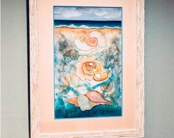 Ocean Treasures, Framed Approx. 30x16