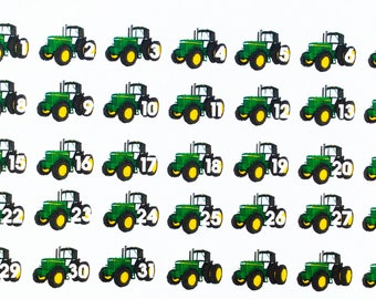 0244 John Deere Farm Tractor Calendar Dates Stickers/Daily  Numbers/Garden/Crops Part 83